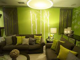 gorgeous minimalist green living room design with modern fantastic