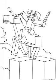 print minecraft unicorn coloring pages coloring pages