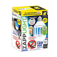 no bug light bulb zapplight led 60w bug zapper bulb by bulbhead insect and mosquito