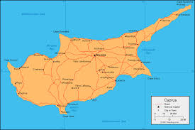 map of cyprus cyprus map and satellite image