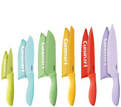 knife sets knives kitchen food qvc com cuisinart advantage 12 piece ceramic coated color knife set k305301