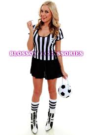 Halloween Costume Referee F66 Ladies Sports Referee Umpire Football Soccer Fancy Dress