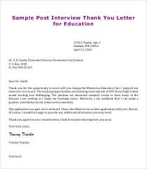 sample post interview thank you letter how to write a thank you