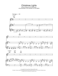 Coldplay Christmas Lights Download Christmas Lights Sheet Music By Coldplay Sheet Music Plus
