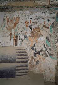 primer the buddha dunhuang foundation mural at the foot of the reclining buddha in cave 158 781 848 ce