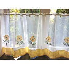 Sunflower Yellow Curtains by Kitchen Curtain Colors Decorate The House With Beautiful Curtains