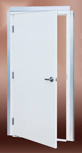 Frame Exterior Door Series 23 Prehung Commercial Steel Service Doors Post Frame