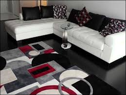 Bedroom Ideas Red Black And White Bedroom Maxy Home Shag Geometric Tile Design Red Black White Grey