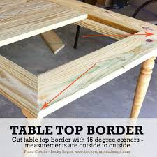 Diy Patio Table Top Diy Patio Table To Fit The Whole Family