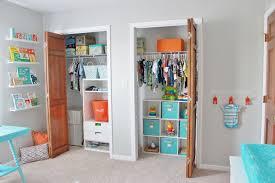 aqua orange and grey nursery project nursery