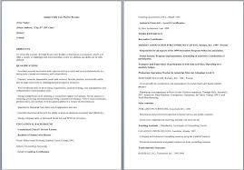 Sle Resume Of Child Caregiver Child Care Resume Exles Targer Golden Co
