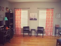 Threshold Ombre Curtains by Orange Turquoise And Gray Office Threshold Coral Curtains From
