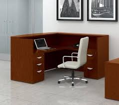 Wood Reception Desk To Go Ventnor Series Toffee Wood Reception Desk With Return
