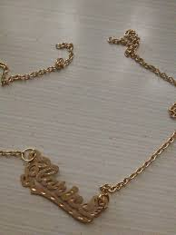 Name Chains Gold This To That Earring To A Necklace Diy Love Resee This To