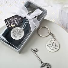 keychain favors the moon and back keychain favors