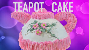 how to make a teapot cake youtube