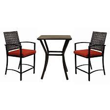 Black Cast Aluminum Patio Furniture Furniture Wonderful Lowes Bistro Set For Patio Furniture Idea