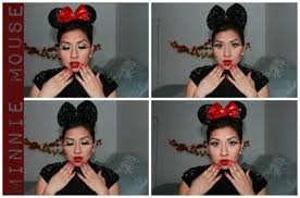 Minnie Mouse Halloween Makeup by Halloween Look Minnie Mouse Youtube