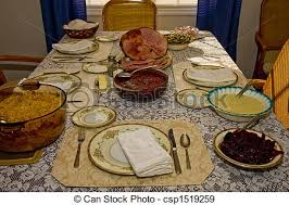 stock photographs of thanksgiving dinner an fashioned