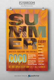 free flyer designs coco beach bar flyer template psd flyerroom