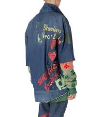 Denim Blue Wave Oversize Jacket Blue Denim Vivienne Westwood