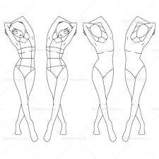 fashion croquis templates u2013 illustrator stuff