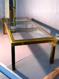 glass parsons dining table monumental brass glass parsons dining table by mastercraft
