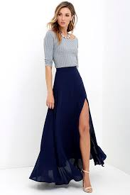 high waisted skirts lovely navy blue maxi skirt high waisted skirt slit maxi skirt