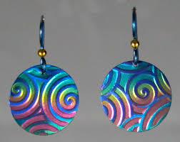 niobium earrings lindarae jewelry niobium jewelry items