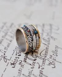 hippie wedding ring statement ring silver gold by yardenajewelry on etsy women s