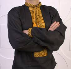 Halloween Gifts For Men Vyshyvanka Men Black Yellow Ukraine Embroidery Linen Shirt S 4xl