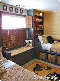 Pirate Room Decor Boys Bedroom Beds With Headboard Shelving Baskets Below
