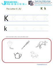 letters and sounds leaning letter k and the k sound