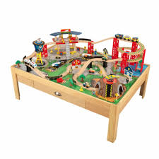 airport express train set and table natural kidkraft