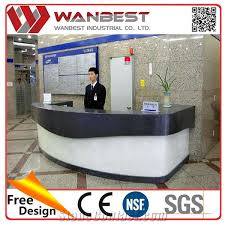 Restaurant Reception Desk Modern Artificial Marble Office Restaurant Reception Counter