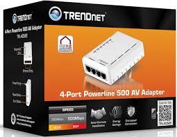 tpl 4052e ook trendnet powerline adapter met vier netwerkaansluitingen