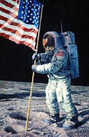 Picture Of Flag On Moon Collection Index