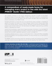 a project manager u0027s book of forms a companion to the pmbok guide