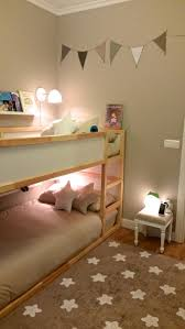 Ikea White Bunk Bed Sophisticated Palette Painted Garland And Star Rug Estella