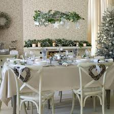 Kitchen Table Decoration by Dining Room Table Christmas Decor Vintage White Christmas Table