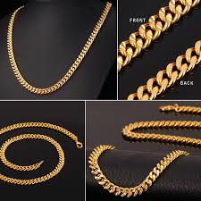 man gold necklace wholesale images Curb chain necklace hollow miami cuban link chain for jpg