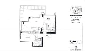 Scale Floor Plan by The Renaissance Floor Plans Condos For Sale In San Diego