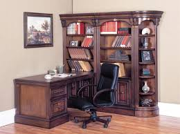 Chestnut Bookcase Huntington 5 Piece Corner Peninsula Desk Wall Unit In Chestnut