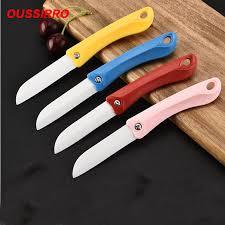 couteau cuisine ceramique 1 pcs 3 pouce portable pliant en céramique couteau fruits couteau à