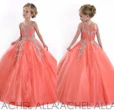 2016 girls pageant dresses sheer crew with beads rhinestones