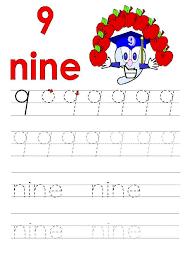 number 9 tracing worksheets for preschool kindergarten funnycrafts