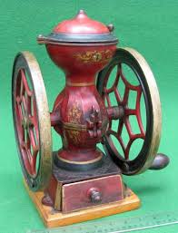 Enterprise Coffee Grinder Meeker U0027s Www Antiqbuyer Com Antique Double Wheel Coffee Mill