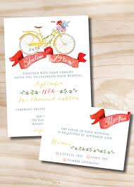 Invitations With Response Cards Watercolor Bicycle Wedding Invitation And Response Card Rsvp 100