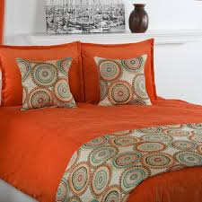 Orange Bed Sets Orange Comforter Set Home Design Premium Cotton White Line