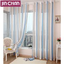 ready made stipe modern window tulle curtains for living room